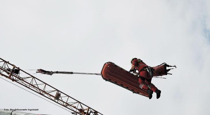 Höhenrettungsgruppe im Einsatz